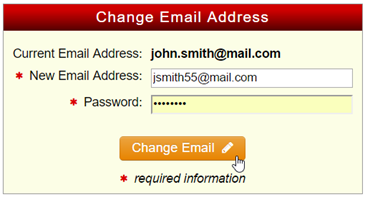 change email address form