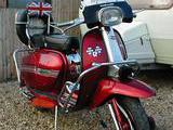 1985 Lambretta DL GP 200 Red Maurice Laker
